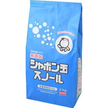 ◆Laundry detergent washing article daily necessities for the Shabondama Soap environment detergent (eco-detergent) clothing for soap bubbles Nord paper sack 2.1 kg (additive-free soap) ◆ environment detergent Eco detergents