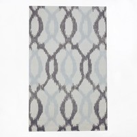 Ikat Links Wool Rug
