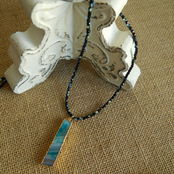 Long layering necklace, czech glass, druzy, bohemian style, casual everyday jewelry, beach chic, aqua druzy, blue