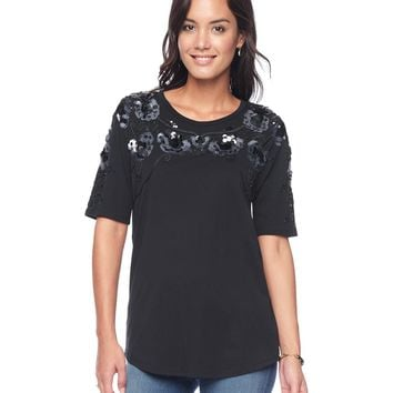 Placed Embellished Tee by Juicy Couture