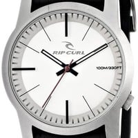 Rip Curl Men's A2717 - GUN CAMBRIDGE LEATHER GUNMETAL - GUN Analog Display Quartz Black Watch