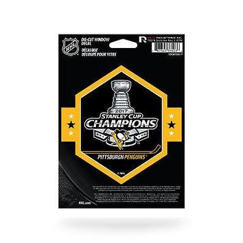 """Licensed Pittsburgh Penguins NHL 5"""" x 2017 Stanley Cup Champs Automotive Car Decal 5x5 KO_19_1"""