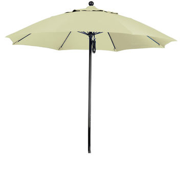 9 Foot Sunbrella 5A Fabric Complete Fiberglass Frame Pulley Lift Patio Patio Umbrella