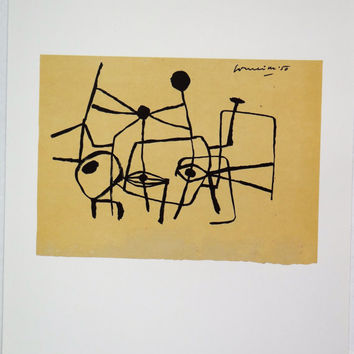 Cave paintings,  Guillaume Corneille, Dutch artist, rock paintings, surrealism, lyricism, Karel Apell, vintage, Amsterdam, drawing, sketch