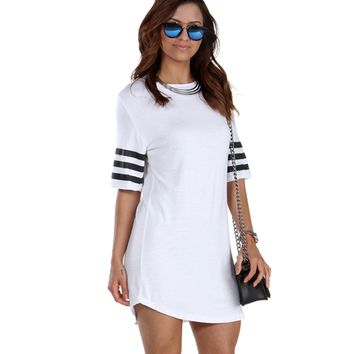 White Athletic Jersey Tunic