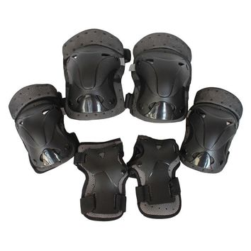 LumiParty Adult Safety Protective Gear6pcs Set Protective Pads for Multi Sports Skateboarding Inline Roller Skating Cycling