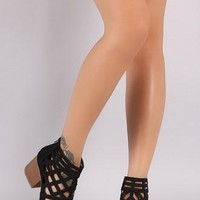 Show Stopping Open Toe Bootie