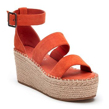 Matisse Soire Wedge in Coral