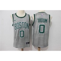 Boston Celtics #0 Jayson Tatum #7 Jaylen Brown #11 Kyrie Irving #20 Gordon Hayward City Edition Jersey