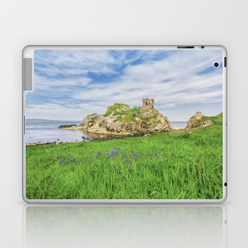 The old castle of Kinbane Laptop & iPad Skin by Peaky40