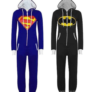 Mens Ladies Cartoon Superman Adult Animal Onesuits Onsie Kigurumi Pyjamas Pajamas Jumpsuits Fancy Dress C300  S/M/L/XL/XL = 1946677316