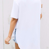 Live in Slouchy Tee (White)