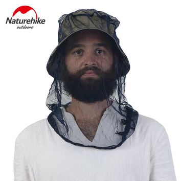 Naturehike mosquitoes cap head helmet net insect bee head protector hat mask outdoor fishing camping head face mesh
