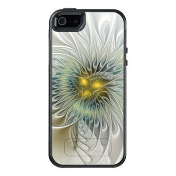 Golden Flower Fantasy, abstract Fractal Art OtterBox iPhone 5/5s/SE Case