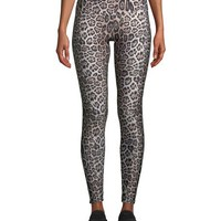 Onzie High-Rise Leggings, Leopard | Neiman Marcus