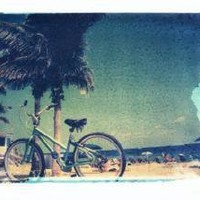 "Supermarket - polaroid transfer of ""beach bike"" - 11x14 print - signed by artist from shehitpausestudios"