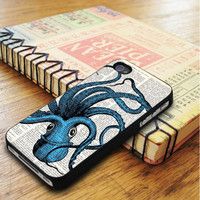 Turquoise Octopus Animal Dictionary iPhone 5 | iPhone 5S Case