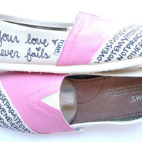 The Ava  Coral and Cream Custom TOMS by FruitfulFeet on Etsy