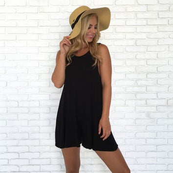 Lift Me Up Jersey Romper in Black