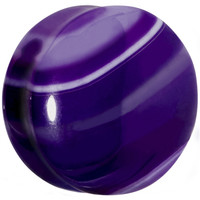 "1"" Double Flare Purple Line Agate Stone Plug 