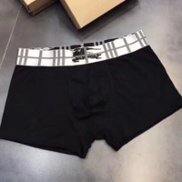 Burberry New hot sales fashion print men four underwear boxed Black