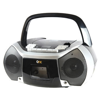 Quantum FX Portable Boombox with Bluetooth, AM/FM Radio, CD/MP3 Player, Cassette Recorder and Headphone Jack