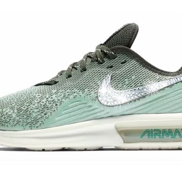 Nike Air Max Sequent 4 + Crystals - Blue Void Teal Tint e3d375bfcb1f