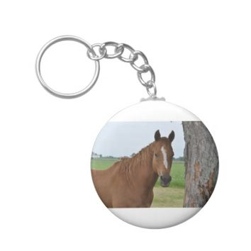 Horse by Tree Keychain