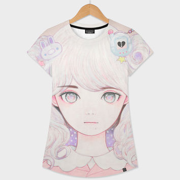 «Cosmic Spring» Women's All Over T-Shirt by Kaoru Hasegawa - Numbered Edition from $39 | Curioos