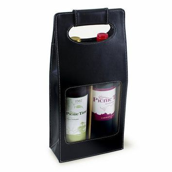 Venezia Two-Bottle Wine Carrier - Black