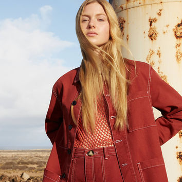 BDG Rust Contrast Stitch Workwear Jacket | Urban Outfitters