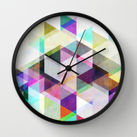 Color Blocking 6 Wall Clock by Mareike Böhmer Graphics