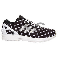 Black White Polka Dot Adidas Flux Women's Swarovski Crystal Accent Bling Blinged Out