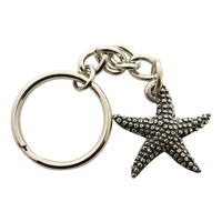 Starfish Keychain ~ Antiqued Pewter ~ Keychain