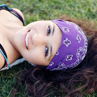 Headscarf Headband Grape Purple Hair Band Headscarves Head Scarf Head Wrap Bandana (Item 4011) BA