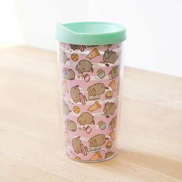 Exclusive Pusheen striped travel mug