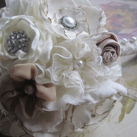 Fairytale bridal bouquet brooch bouquet beautiful handmade custom bouquet alternative wedding bouquet everlasting