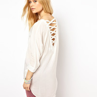 Vero Moda Ladder Back Shirt at asos.com