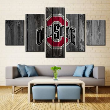 Ohio State Buckeyes Football American Wall Art Canvas Home Decor Man Cave
