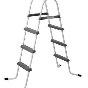"56.3"" Three Step Above Ground Swimming Pool Deck Ladder"