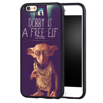 Dobby IS A Free ELF Harry Potter Printed Soft TPU Skin Mobile Phone Cases For iPhone 6 6S Plus SE 5 5S 5C 4 4S Back Shell Cover