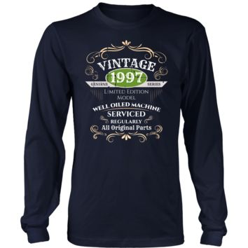 Men's Vintage 1997 21st Birthday Long Sleeve T-Shirt Gift