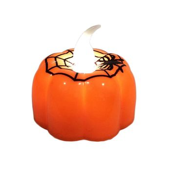 Set of 4 Pumpkin LED Electronic Candle Lamp Halloween Decoration - Multi-b