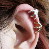 Eagle's Claw Gold +Silver Ear Cuffs (No Piercing)