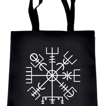 Vegvisir Viking Compass Symbol Tote Book Bag Handbag Viking Old Norse