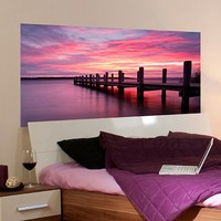 Home Decor Line Sunset Panoramic Wall Decal