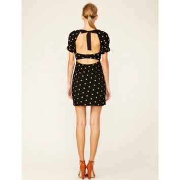 3.1 Phillip Lim Cut Out Polka Dot Dress