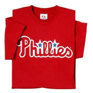 Philadelphia Phillies (YOUTH SMALL) 100% Cotton Crewneck MLB Officially Licensed Majes