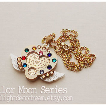 MADE to ORDER Sailor Moon Eternal Moon Article Inspired Acrylic Necklace for Mahou Kei & Magical Girl Fashion