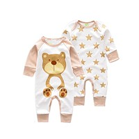 Baby Romper Baby boy Jumpsuit newborn Cartoon Animal rompers newborn long sleeve Rompers baby cotton Jumpsuit